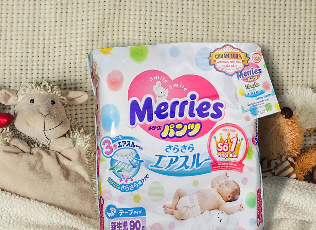 Tã dán Merries được nhiều bà mẹ Việt Nam tin dùng cho bé yêu