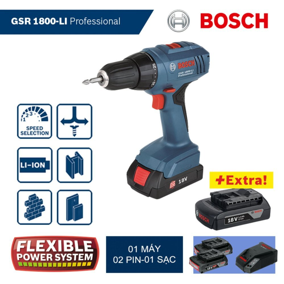 Máy khoan Bosch GSR 1800-LI