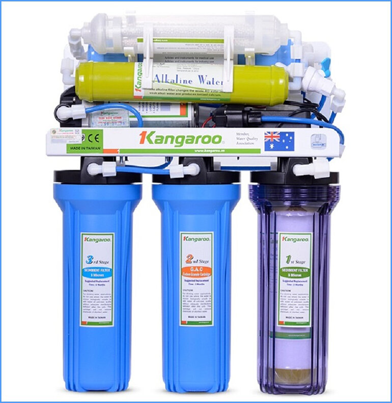7 lõi của máy lọc nước RO Kangaroo KG104AKV