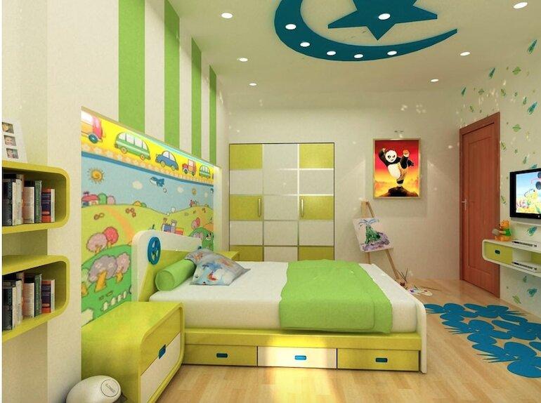 Những điều cơ bản trong thiết kế nội thất phòng ngủ trẻ em