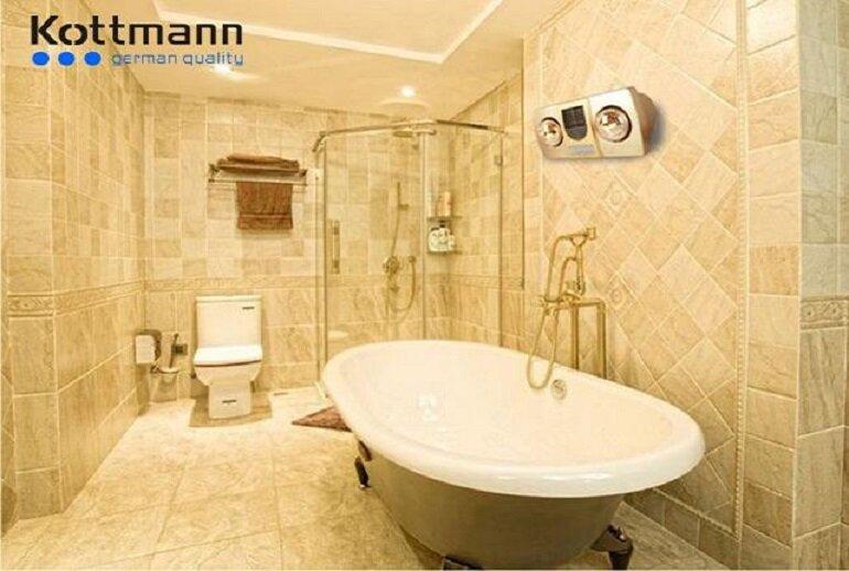 Thiết kế của đèn sưởi nhà tắm kottmann