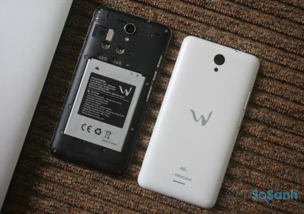 Mặt sau điện thoại W E10