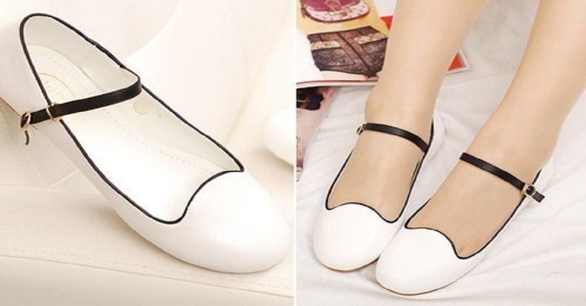 giày búp bê bé gái đơn giản