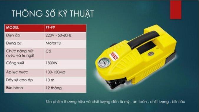 Máy Xịt Rửa Xe Cao Cấp Tự Động Perfect PF-F9 - Giá tham khảo: 1.378.000 vnđ