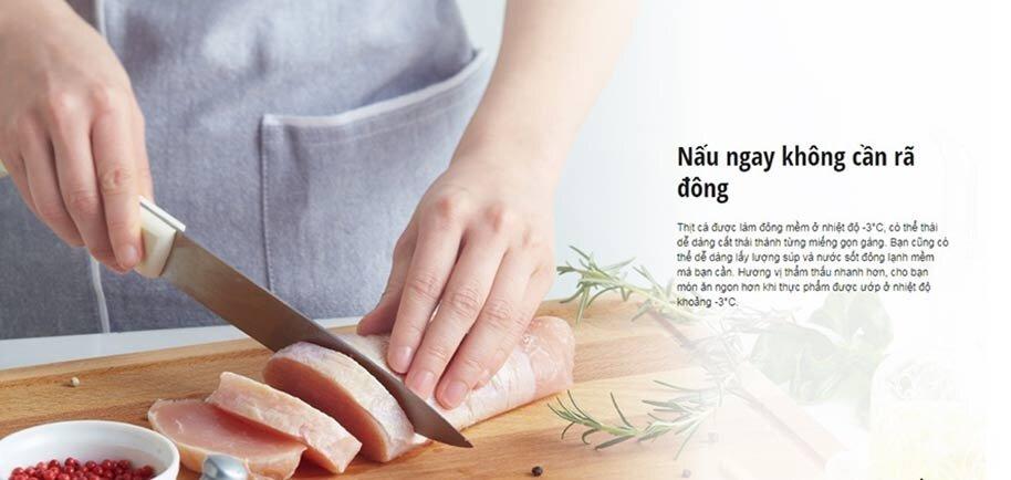 Thực phẩm dễ dàng cắt thái, nấu ngay mà không mất thêm thời gian rã đông
