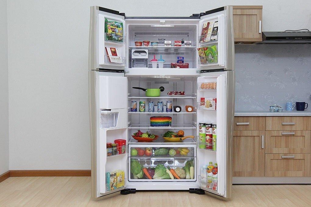 ủ lạnh Side By Side Hitachi thiết kế sang trọng, hiện đại.