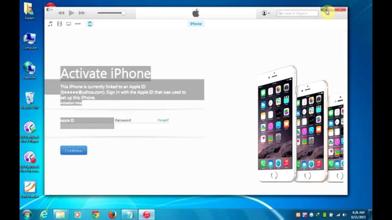 Bạn có thể kích hoạt điện thoại iPhone từ iTunes