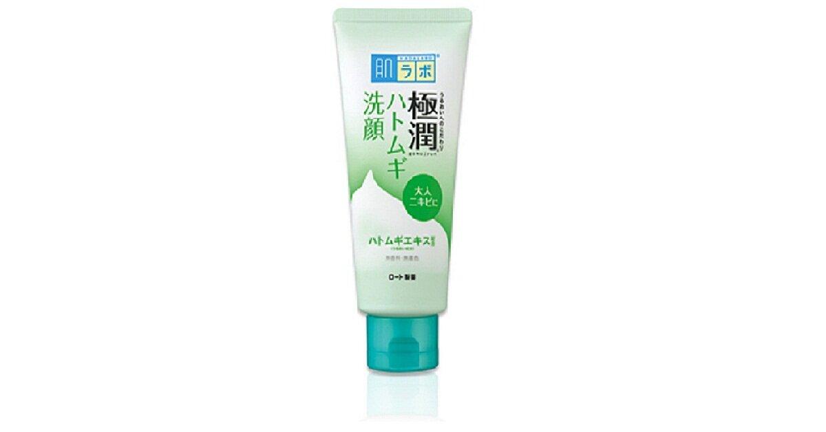 Sữa rửa mặt Nhật nội địa Hada Labo Gokujyun Face Wash màu xanh - Giá tham khảo khoảng 142.000 vnđ - 180.000 vnđ/ tuýp 100g