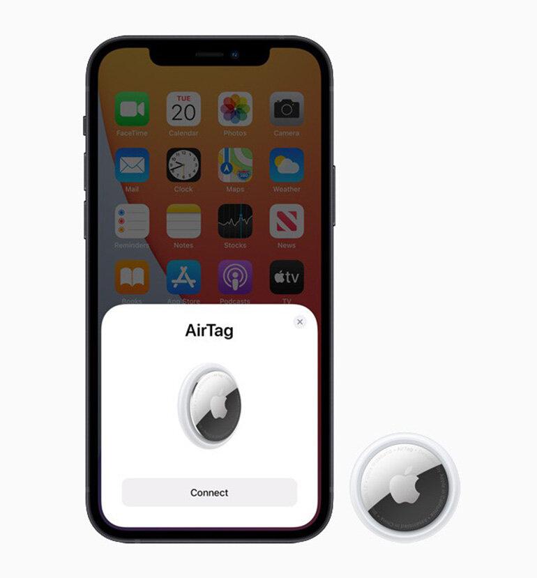 cách kết nối apple airtag với iphone