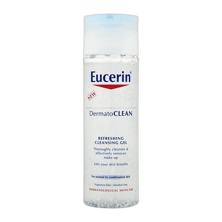 Gel rửa mặt tươi mát Eucerin Dermatoclean