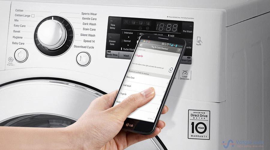 máy giặt sấy 9kg inverter LG