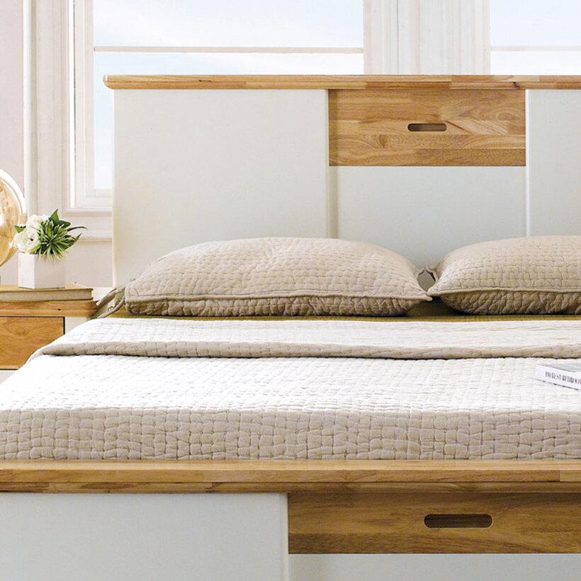 Mẫu giường đơn Cozino Canna với chất liệu gỗ sồi Mỹ 100%