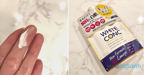 Review sữa dưỡng thể White Conc