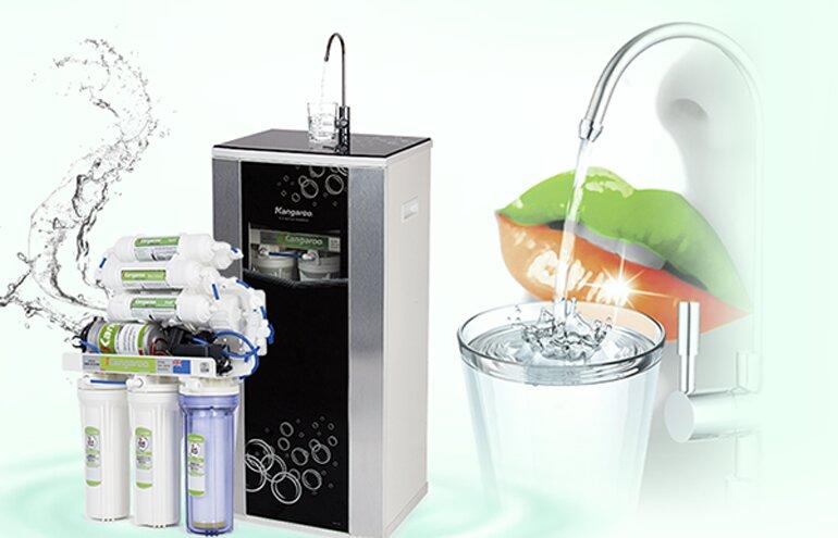 Máy lọc nước Kangaroo thiết kế đơn giản