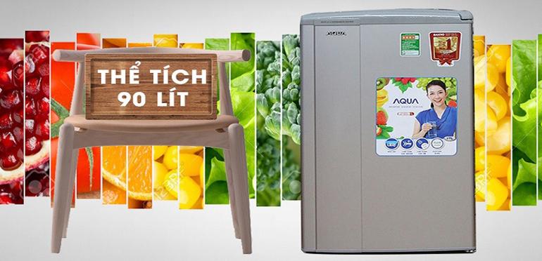 Tủ lạnh mini Aqua 90 lít AQR-95ER (SS)