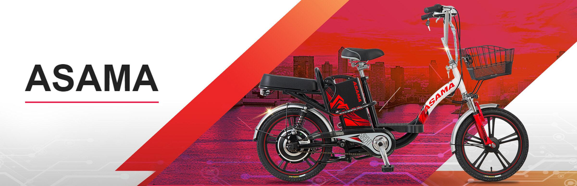 Xe đạp điện Asama kiểu dáng đơn giản