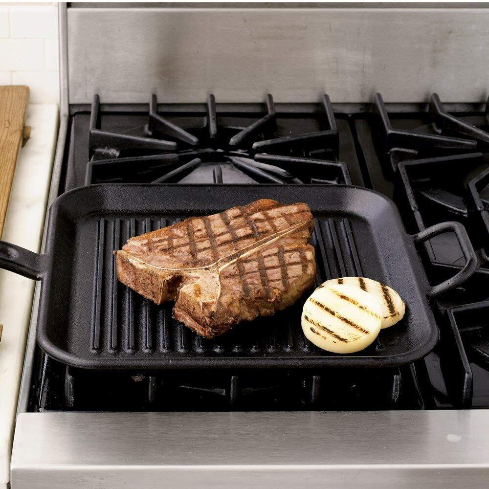 Chảo gang nướng hình vuông Lodge P12SGR3 30.48cm giảm lượng dầu mỡ bám trên thức ăn hiệu quả