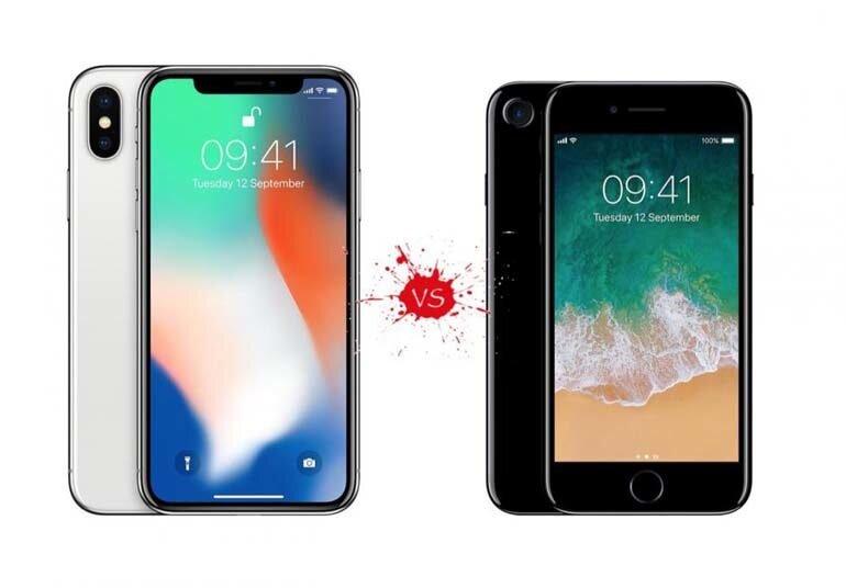 So sánh iPhone X và iPhone 7