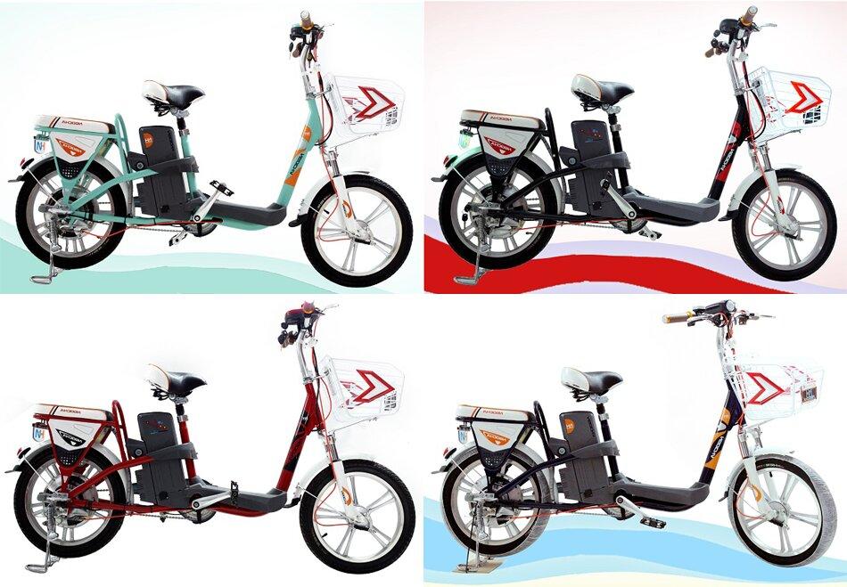 Xe đạp điện Ngọc Hà với nhiều màu sắc trang nhã, tinh tế