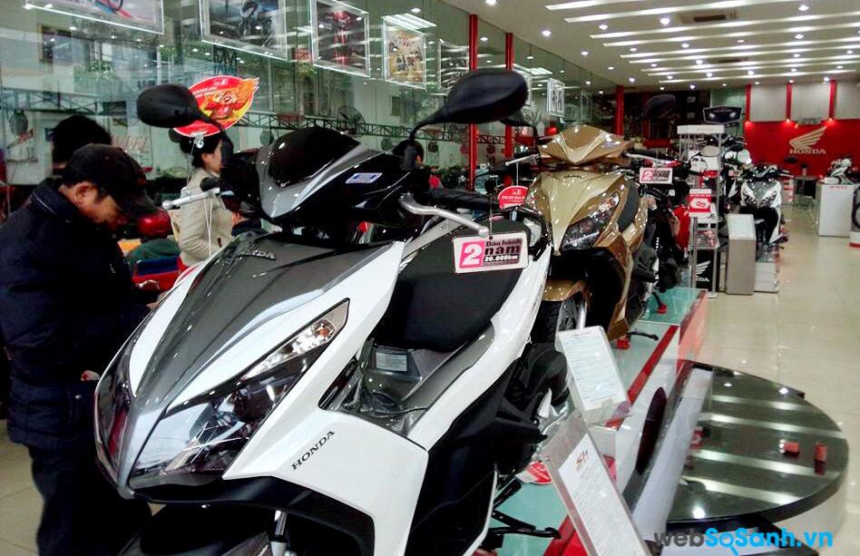 Honda Airblade phiên bản cũ đang chứng kiến sự giảm giá nhẹ