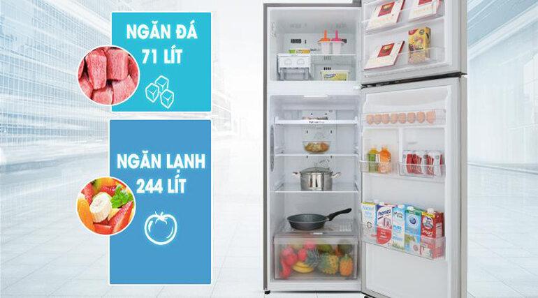 Tủ lạnh LG GN-M315PS - 315 Lít Linear Inverter với ngăn đá truyền thống