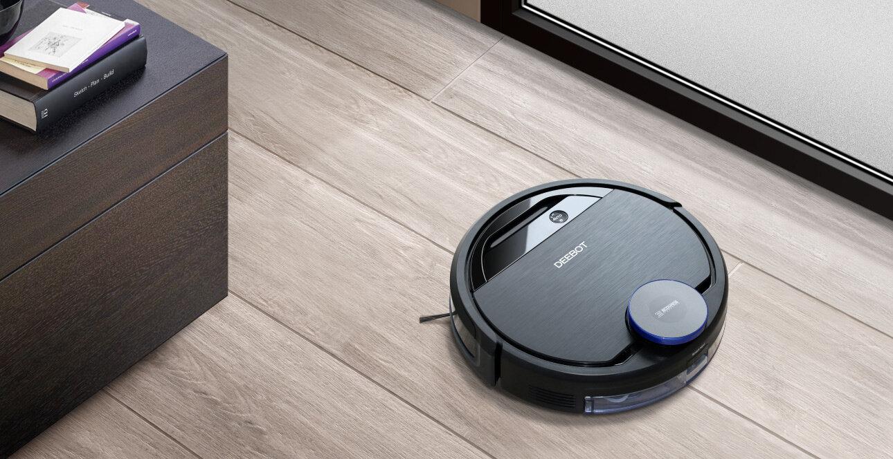 Robot hút bụi Ecovacs thiết kế nhỏ gọn, màu sắc tinh tế