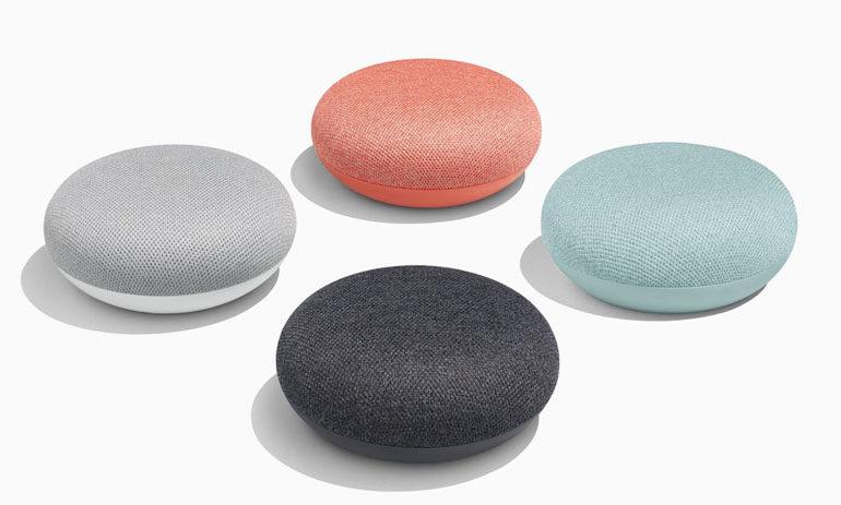 các màu sắc loa google home mini