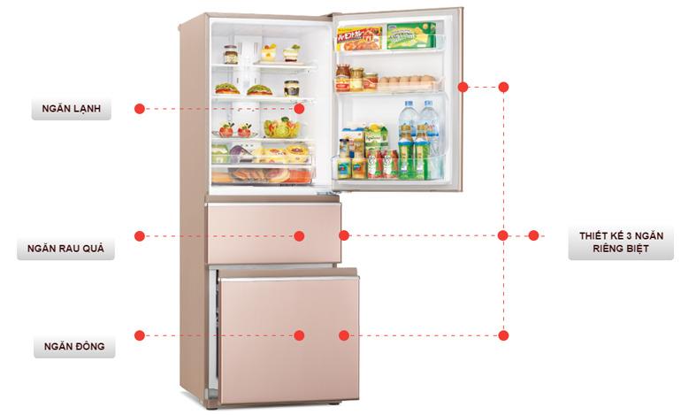 Tủ lạnh Mitsubishi Electric 358 lít MR-CX46EJ tốt nhất