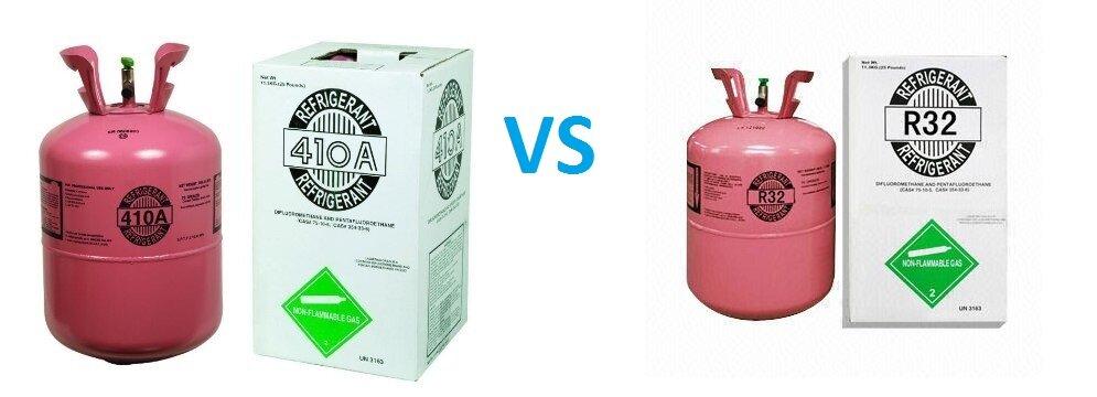 Gas R32 và R410A có thành phần khác nhau nên tính chất của 2 loại gas làm lạnh là khác nhau