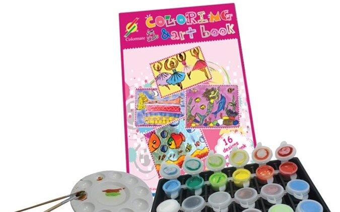Bộ màu vẽ Colormate dành cho bé gái