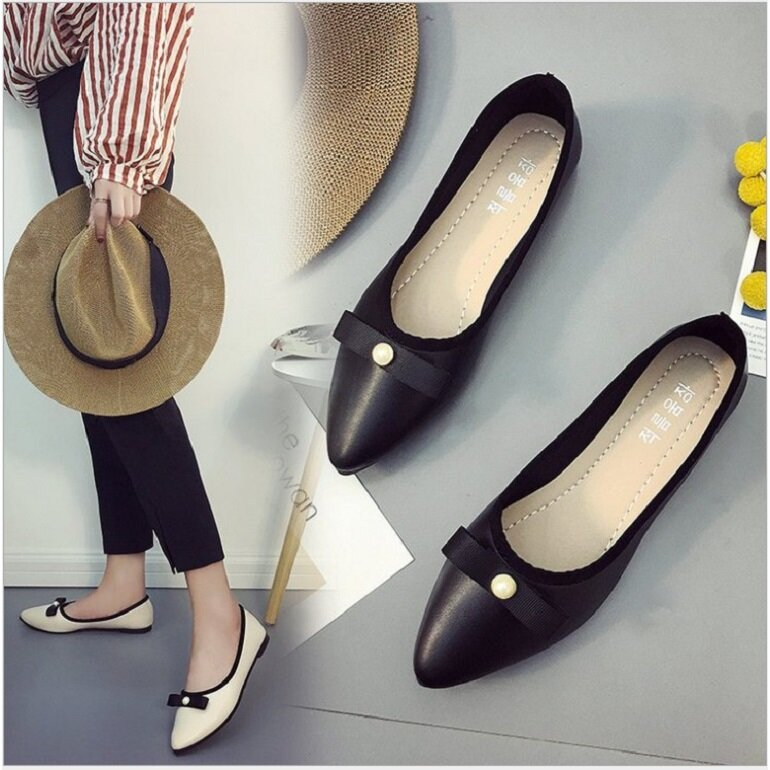giày búp bê nữ trắng đẹp