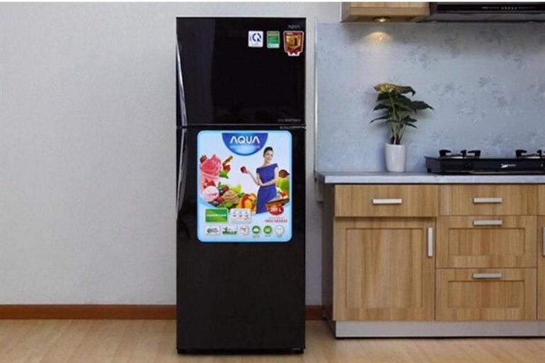 Tủ lạnh Aqua có thiết kế ấn tượng rất bắt mắt.(Nguồn: Internet)