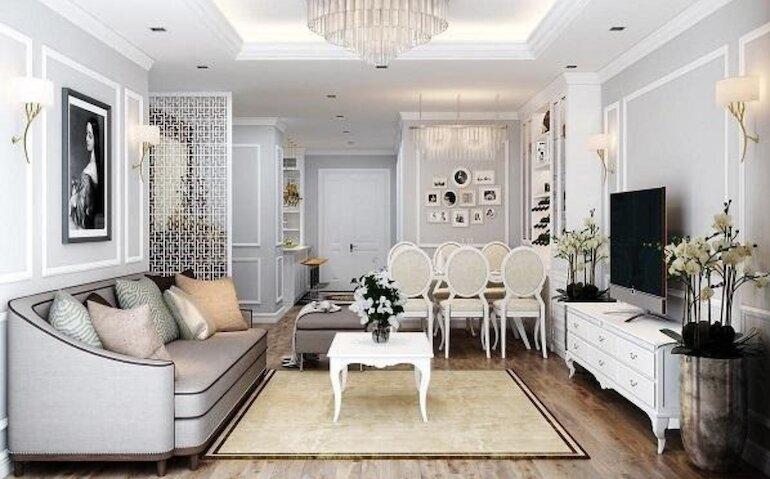 Khám phá ưu điểm của thiết kế nội thất tân cổ điển