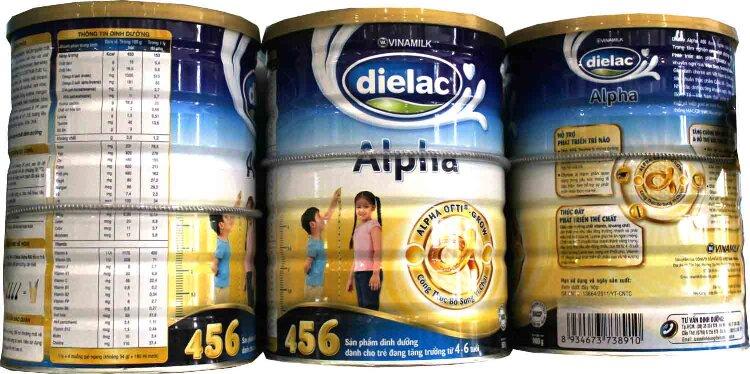 Dielac Alpha 456 HT phù hợp với nhu cầu khuyến nghị RNI Việt Nam cho bé từ 4-6 tuổi