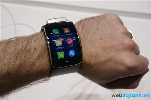 Màn hình của Samsung Gear S. Nguồn Internet