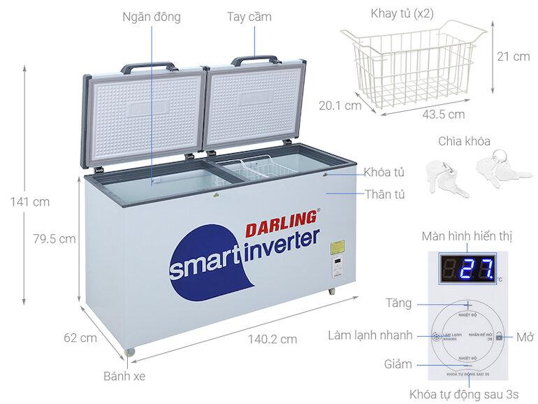 Tủ đông 1 ngăn Darling DMF - 4799 ASI