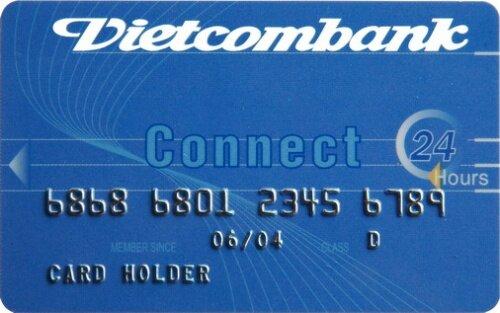 Một thẻ tín dụng do ngân hàng Vietcombank phát hành
