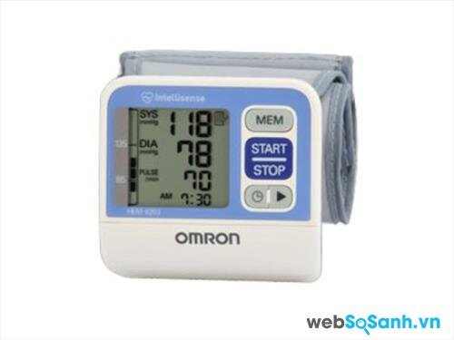 Máy đo huyết áp cổ tay Omron tốt nhất năm 2016: máy đo huyết áp Omron HEM-6023