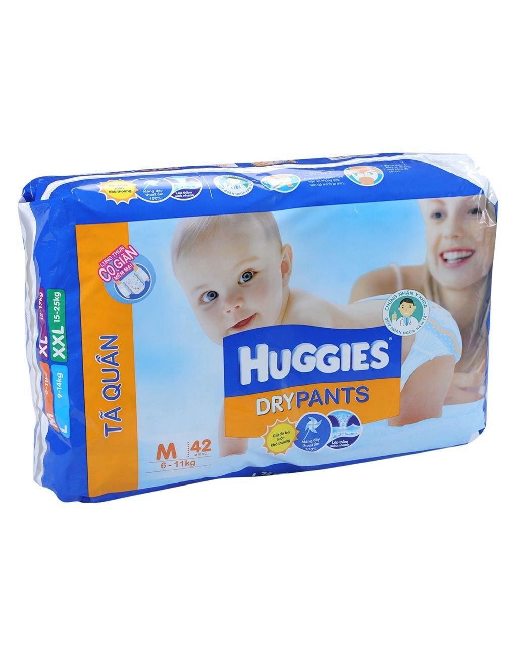 Tã quần Huggies Dry Pants M10
