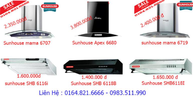 Mua máy hút mùi Sunhouse giá rẻ tốt nhất Hà Nội tại Bếp Hùng Phát đang có nhiều ƯU ĐÃI