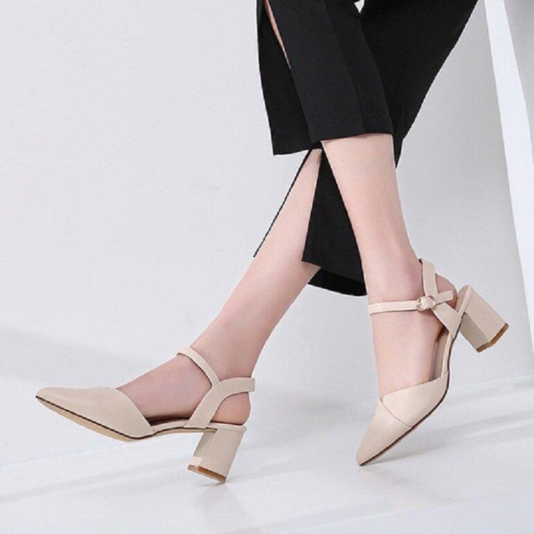 giày cao gót 5cm mũi nhọn