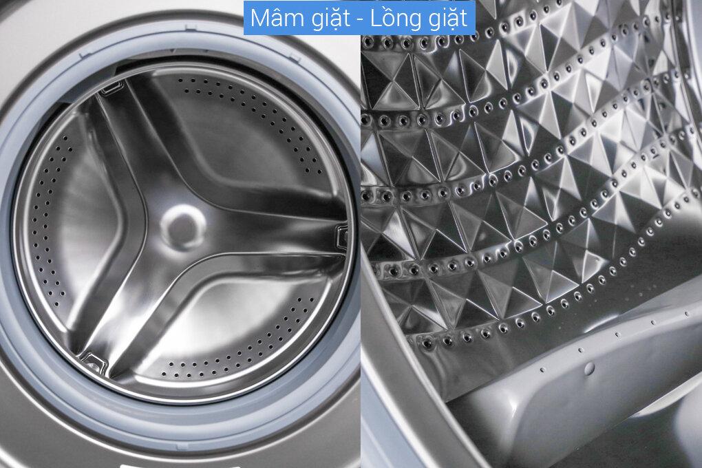 Samsung AddWash WW90K54E0UX/SV, 9.0 kg với phần mâm giặt và lồng giặt thiết kế rất tinh tế