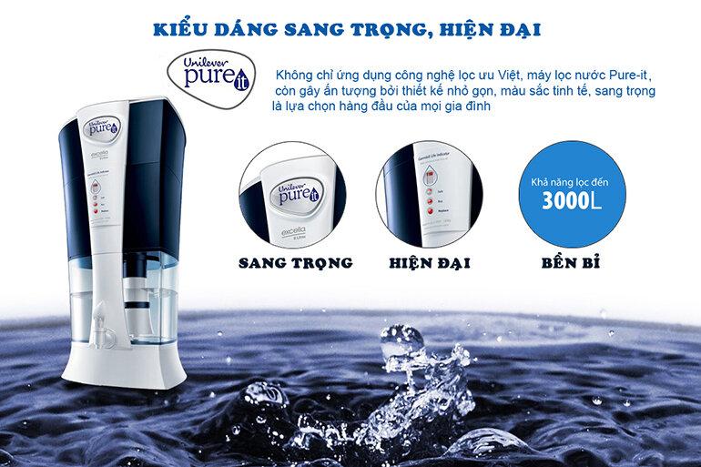 Đánh giá máy lọc nước Pureit từ Unilever Excella về kiểu dáng