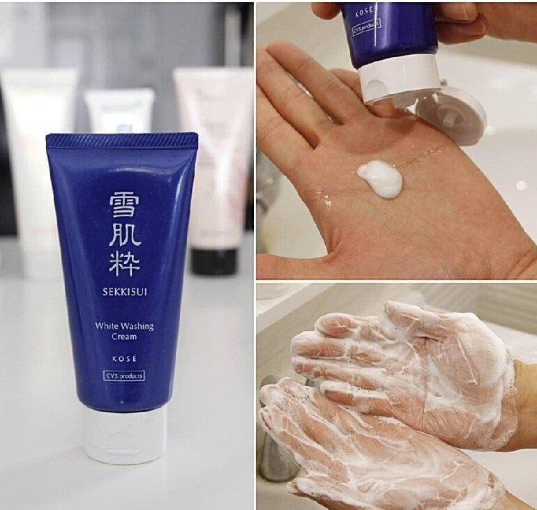 Sữa rửa mặt Kose Sekkisei White Washing Cream