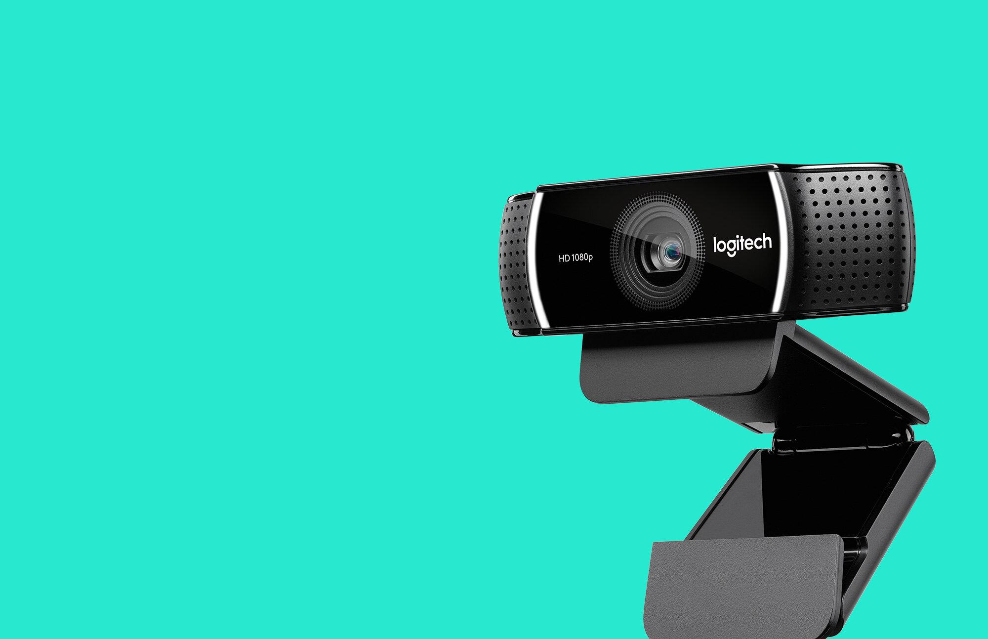 Logitech C922 có góc quay rộng, đươc trang bị ống kính full HD