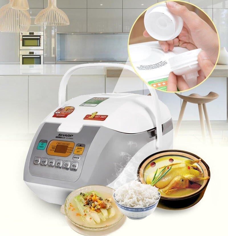 Ngoài nấu cơm ngon, Sharp còn có những model nồi điện tử có thể chế biến nhiều món ăn hấp dẫn