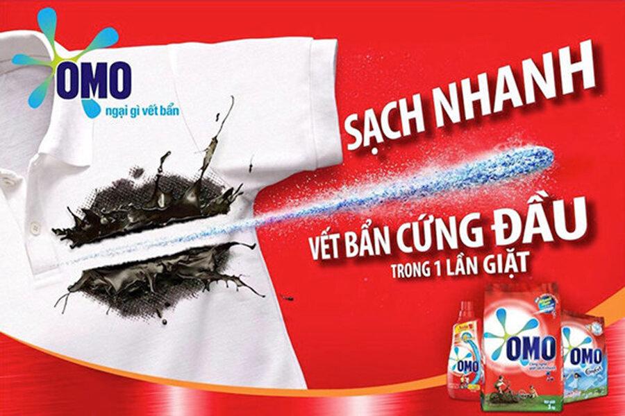 Bột giặt OMO đánh bay vết bẩn chỉ sau một lần giặt duy nhất