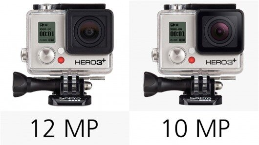 The 10-megapixel resolution of the Hero3+ Silver lags slightly behind the other cameras