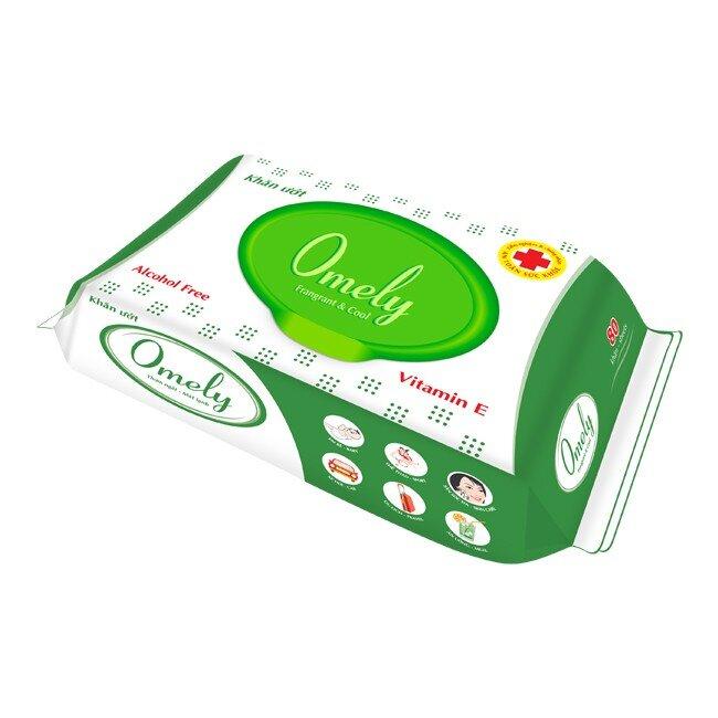 Khăn ướt Omely 4205 là sản phẩm của không chứa cồn