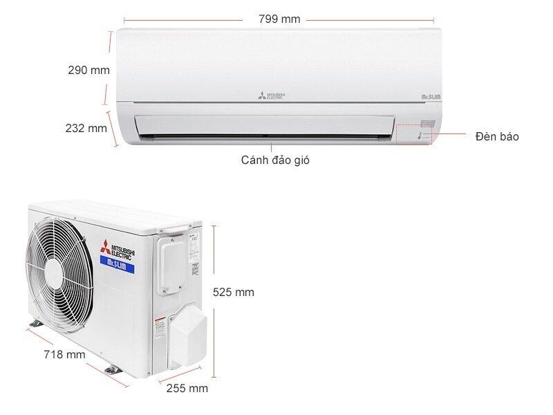 Máy lạnh Mitsubishi Electric MS-HP35VF – 1.5HP